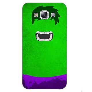 1 Crazy Designer Superheroes Hulk Back Cover Case For Samsung Galaxy E5 C440322