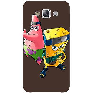 1 Crazy Designer Spongebob Patrick Back Cover Case For Samsung Galaxy E5 C440471