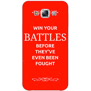 1 Crazy Designer SUITS Quotes Back Cover Case For Samsung Galaxy E5 C440477