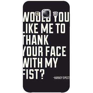 1 Crazy Designer SUITS Quotes Back Cover Case For Samsung Galaxy E5 C440485