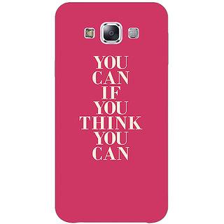 1 Crazy Designer Quotes Back Cover Case For Samsung Galaxy E5 C441193