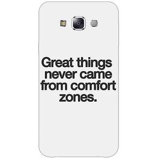 1 Crazy Designer Quotes Back Cover Case For Samsung Galaxy E5 C441196