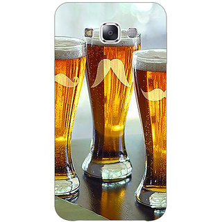 1 Crazy Designer Beer Glasses Back Cover Case For Samsung Galaxy E5 C441202