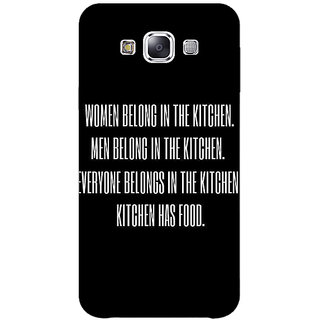 1 Crazy Designer Kitchen Quote Back Cover Case For Samsung Galaxy E5 C441206