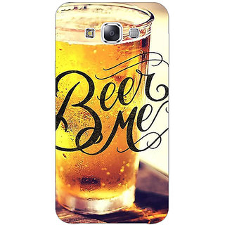 1 Crazy Designer Beer Quote Back Cover Case For Samsung Galaxy E5 C441210