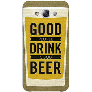 1 Crazy Designer Beer Quote Back Cover Case For Samsung Galaxy E5 C441220