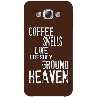 1 Crazy Designer Coffee Quote Back Cover Case For Samsung Galaxy E5 C441221