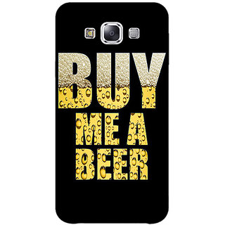 1 Crazy Designer Beer Quote Back Cover Case For Samsung Galaxy E5 C441224