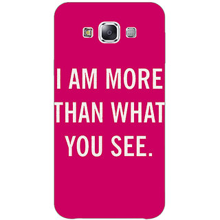 1 Crazy Designer Quote Back Cover Case For Samsung Galaxy E5 C441225