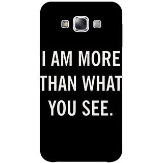 1 Crazy Designer Quote Back Cover Case For Samsung Galaxy E5 C441230