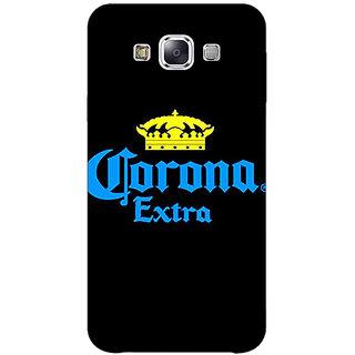 1 Crazy Designer Corona Beer Back Cover Case For Samsung Galaxy E5 C441241
