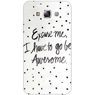 1 Crazy Designer Quote Back Cover Case For Samsung Galaxy A7 C431351