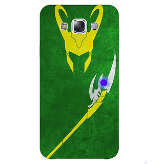 1 Crazy Designer Superheroes Loki Back Cover Case For Samsung Galaxy E5 C440341