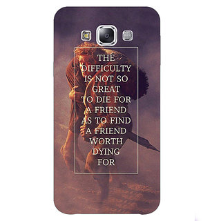 1 Crazy Designer LOTR Hobbit  Back Cover Case For Samsung Galaxy E5 C440367