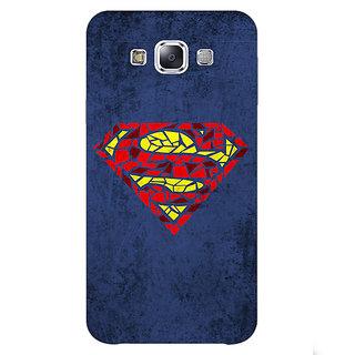 1 Crazy Designer Superheroes Superman Back Cover Case For Samsung Galaxy E5 C440381