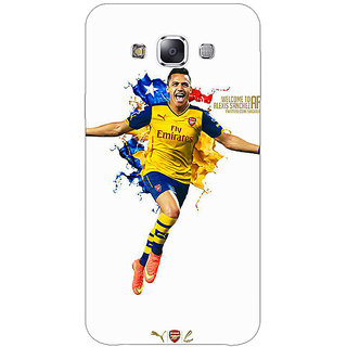 1 Crazy Designer Arsenal Back Cover Case For Samsung Galaxy E5 C440511