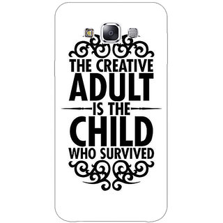 1 Crazy Designer Creative Quote Back Cover Case For Samsung Galaxy E5 C441298