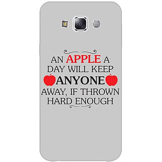 1 Crazy Designer Apple Quote Back Cover Case For Samsung Galaxy E5 C441313