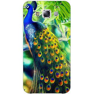 1 Crazy Designer Paisley Beautiful Peacock Back Cover Case For Samsung Galaxy E5 C441578