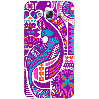 1 Crazy Designer Paisley Beautiful Peacock Back Cover Case For Samsung Galaxy E5 C441580