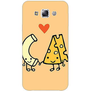 1 Crazy Designer Cheese Donut Love Back Cover Case For Samsung Galaxy E5 C441133