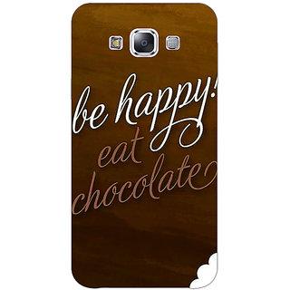 1 Crazy Designer Chocolate Quote Back Cover Case For Samsung Galaxy E5 C441330
