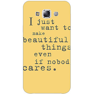 1 Crazy Designer Quote Back Cover Case For Samsung Galaxy E5 C441335