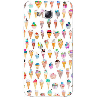 1 Crazy Designer Ice cream Doodle Back Cover Case For Samsung Galaxy E5 C441358