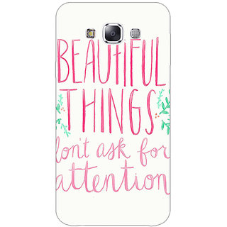 1 Crazy Designer Beautiful Quote Back Cover Case For Samsung Galaxy E5 C441367