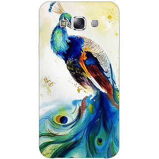 1 Crazy Designer Paisley Beautiful Peacock Back Cover Case For Samsung Galaxy E5 C441583