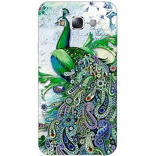1 Crazy Designer Paisley Beautiful Peacock Back Cover Case For Samsung Galaxy E5 C441591