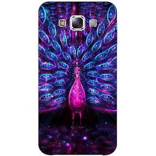 1 Crazy Designer Paisley Beautiful Peacock Back Cover Case For Samsung Galaxy E5 C441600