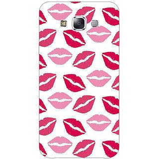 1 Crazy Designer Kiss Back Cover Case For Samsung Galaxy E5 C441407