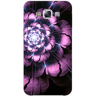 1 Crazy Designer Abstract Flower Pattern Back Cover Case For Samsung Galaxy E5 C441502
