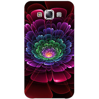 1 Crazy Designer Abstract Flower Pattern Back Cover Case For Samsung Galaxy E5 C441504