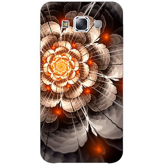1 Crazy Designer Abstract Flower Pattern Back Cover Case For Samsung Galaxy E5 C441507