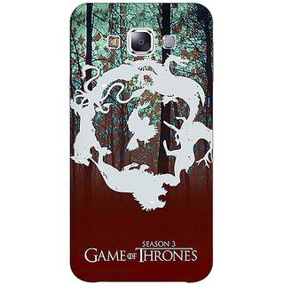 1 Crazy Designer Game Of Thrones GOT Houses Back Cover Case For Samsung Galaxy E5 C441527