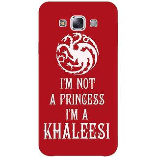 1 Crazy Designer Game Of Thrones GOT Princess Khaleesi Back Cover Case For Samsung Galaxy E5 C441536