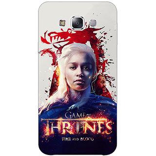 1 Crazy Designer Game Of Thrones GOT Khaleesi Daenerys Targaryen Back Cover Case For Samsung Galaxy E5 C441539