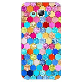 1 Crazy Designer Coloured Hexagon Pattern Back Cover Case For Samsung Galaxy A5 C450225