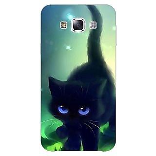 1 Crazy Designer Cute Black Kitten Back Cover Case For Samsung Galaxy A5 C451138