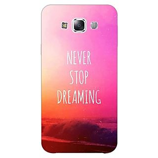 1 Crazy Designer Quotes Never Stop Dreaming Back Cover Case For Samsung Galaxy A5 C451148