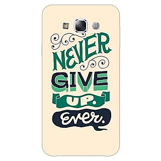 1 Crazy Designer Quotes Never Give Up Back Cover Case For Samsung Galaxy A5 C451153