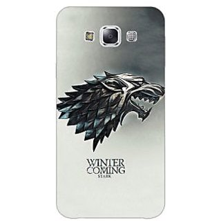 1 Crazy Designer Game Of Thrones GOT House Stark Back Cover Case For Samsung Galaxy E5 C441554