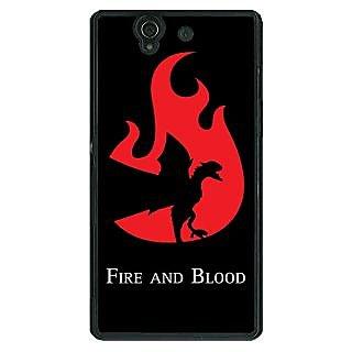 1 Crazy Designer Game Of Thrones GOT House Targaryen  Back Cover Case For Sony Xperia Z C460143