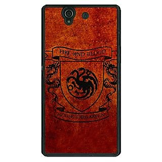 1 Crazy Designer Game Of Thrones GOT House Targaryen  Back Cover Case For Sony Xperia Z C460151