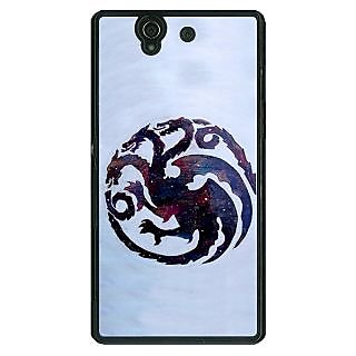 1 Crazy Designer Game Of Thrones GOT House Targaryen  Back Cover Case For Sony Xperia Z C460152