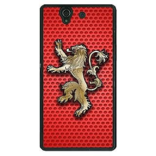 1 Crazy Designer Game Of Thrones GOT House Lannister  Back Cover Case For Sony Xperia Z C460155