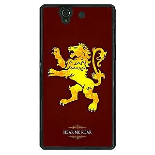 1 Crazy Designer Game Of Thrones GOT House Lannister  Back Cover Case For Sony Xperia Z C460162