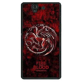 1 Crazy Designer Game Of Thrones GOT House Targaryen  Back Cover Case For Sony Xperia Z C460163